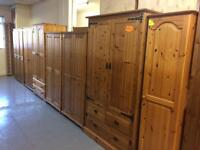 Solid wood / pine wardrobes, bedsides, chest of draws, dressing tables