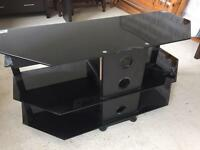 TV stand with built in DVD player, sound bar and woofer