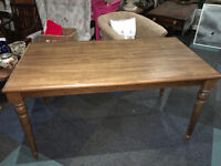 Gorgeous Large Wooden Kitchen Dining Table Wood & Oak Veneer 6 Seater