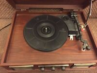 Steepletone USB Norwich Record Player Turntable MP3