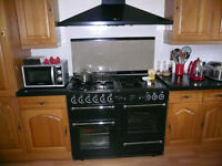 Rangemaster 110 gas/electric cooker and hood