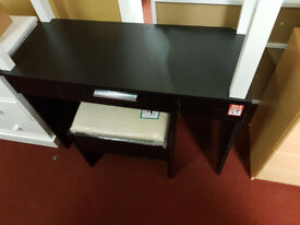 Sparkle Dressing Table and Stool - Black