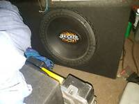 "15"" car sub and amp"