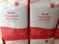 Readi Disposable Bed Pads, packs of 25