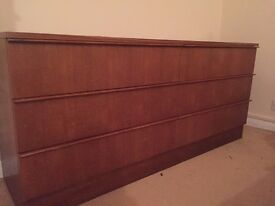 Teak 6 drawer chest