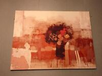 Red wall canvas pictures x2