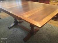 Solid oak draw leaf dining table