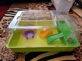 Medium Hamster Cage and accessories