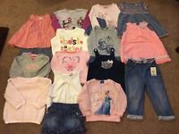 Bundle of baby girls 12-18 clothes and shoes, converse.