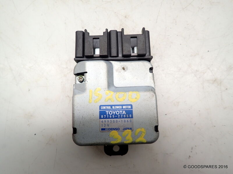 Blower Motor Control Resistor-87165-22050-00 Lexus IS200 saloon ref.332