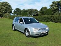 02 REG VOLKSWAGEN GOLF GTTDI SPORT 5DR SILVER 6 SPEED MOT-2017 OUTSTANDING VERY CHEAP @BARGAIN CARS