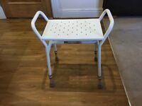 Shower stool - adjustable height