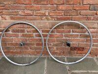Set of hand built bike wheels