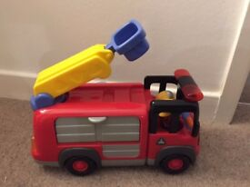 Early Learning Centre Fire Engine and Digger toys