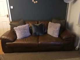 Beautiful DFS Leather 3&2 Seater Sofas