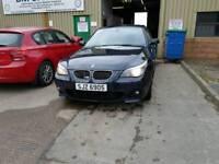 BMW E60 E61 5 SERIES 530D M SPORT CARBON BLACK MV2 IDRIVE BREAKING