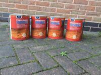 Fence paint /preserver 5 litre tins 5x golden brown 4 x acorn brown £10 each can deliver 07812980350