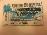 4 days bronze creamfields ticket. wanting 200 pounds for it less than i payed