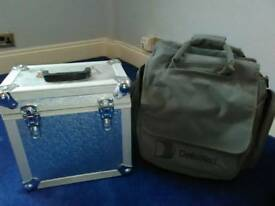 2 vinyl storage box/case