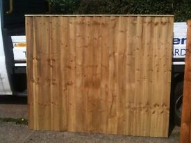 5ft X 6ft Vertilap Tanalised Fence Panels ONLY £23.00