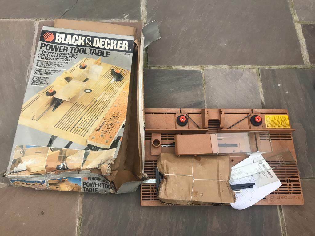 Unused Black Decker D2655 Tool Table Saw Scroll Router