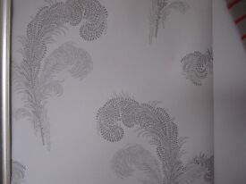 2 Rolls LAURA ASHLEY Wallpaper - SWANSBROOK Dove Grey