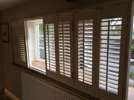 Fantastic white plantation shutters in immaculate condition, as good as new