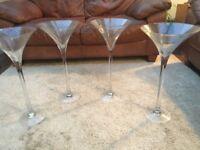 4 Martini Glass Centerpieces
