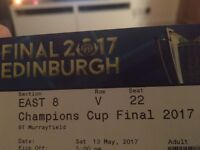 European rugby champions cup x 2 tickets
