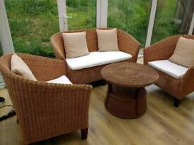 Conservatory wicker furniture chair table sofa