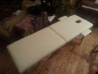 beautiful cream leather Massage Table