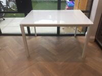 White modern Habitat Extendable dining table