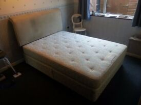 DOUBLE BED WITH HEADBOARD - EXCELLENT CONDITION