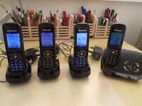 KX-TG8521E Panasonic Digital Cordless Answering Phone with 4 Handsets
