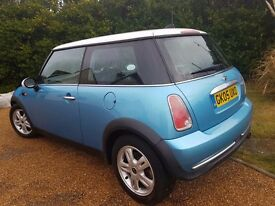 Mini Cooper Hatchback Blue Manual MOT Nov 17 Petrol 1.6l