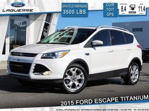2015 Ford Escape TITANIUM**AWD*CUIR*GPS*CAM*HITCH*2.0L*