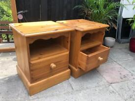 Bedside tables x2 Pine
