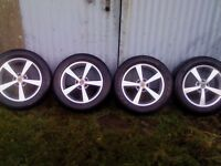 4 wolfrace 5 x 114.3 alloys excellent with good tyres, good outset, xtrail rav crv etc