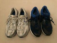 X 2 Pairs Men's Trainers - Nike & Adidas - size 9