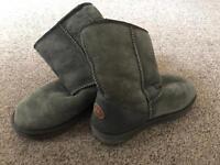 Genuine Emu Grey Boots (Ugg Style)