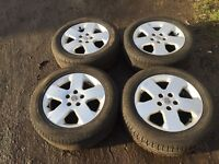 """For sale - Vauxhall Astra / Zafira / vectra 16"""" alloy wheels - excellent tyres"""