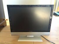 """Polaroid 22"""" LCD TV with freeview, remote control and stand"""