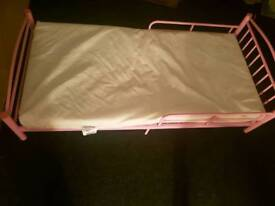 Pink junior bed