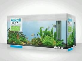 Aquarium tank and cabnit boxed
