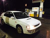 Subaru Impreza wrx import 2.0 TURBO AWD 2 owners 59k genuine original unabused example £1895 bargain