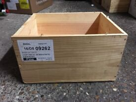 Wooden wine cases (6 bottle) several available