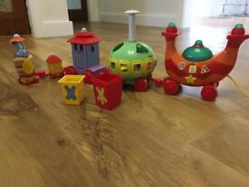 Iggle piggle ninky nonk musical train and shape sorter