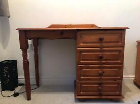 Solid pine Dressing table and 2 bed side tables