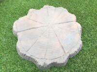 Garden Path Stepping Stones Timber Log Tree Stump Design