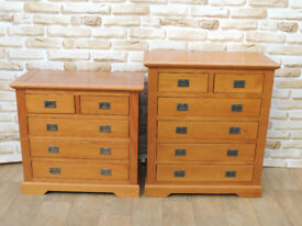 Bedroom set: 2 chests of drawers Pine (Delivery)